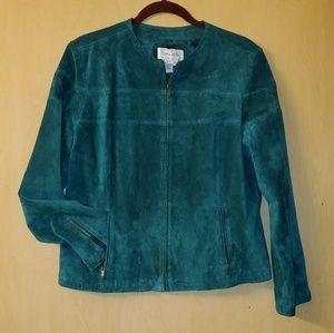Vtg Leather Zip Jacket Sz XL by Live a Little